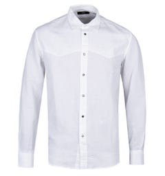 Diesel S-Plan White Linen Shirt