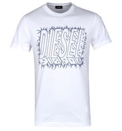 Diesel White T-Diego-SL Short Sleeve T-Shirt
