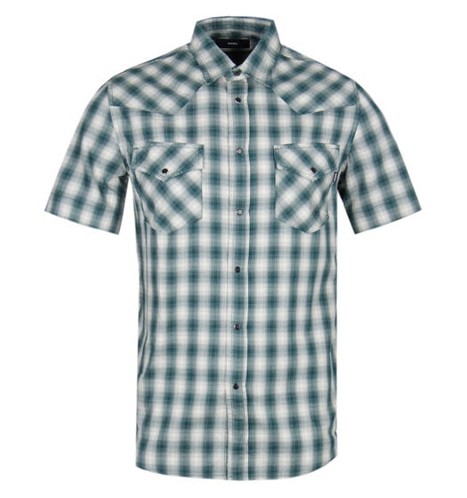 Diesel S-East Short Sleeve Camicia Green Check Shirt