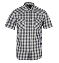 Diesel S-East Short Sleeve Camicia Black Check Shirt