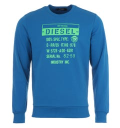 Diesel S-Girk Only The Brave Spec Sweatshirt - Blue
