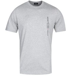 Diesel T-Just Pocket Grey Marl T-Shirt