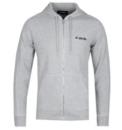 Diesel S-Gina Grey Marl Zip Through Hoodie