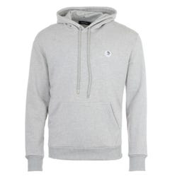 Diesel S-After Mohawk Logo Hooded Sweatshirt - Grey