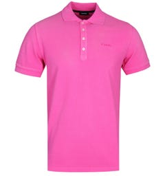 Diesel T-Night Broken Fuchsia Pink Polo Shirt