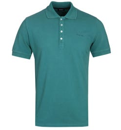 Diesel T-Night Broken Sacramento Green Polo Shirt