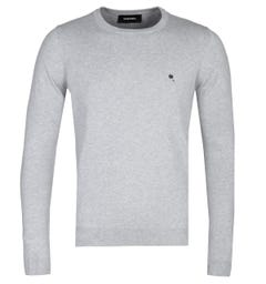 Diesel K-Maniky Grey Marl Crew Neck Sweater