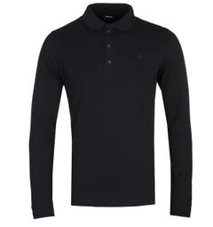 Diesel T-Kalar Long Sleeve Black Polo Shirt