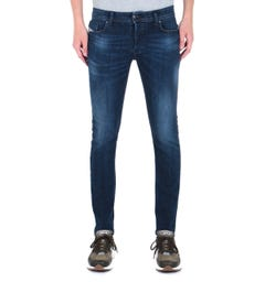 Diesel Larkee Beex Dark Blue Wash Tapered Jeans