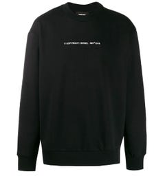 Diesel S-Bay Felpa Black Sweatshirt