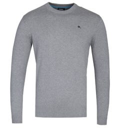 Diesel K-Pablo Grey Marl Knitted Sweater