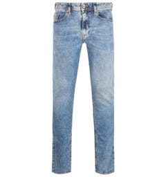 Diesel Washed Light Blue Thommer Slim Fit Jeans