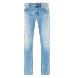 Diesel Thommer Slim Fit Jeans - Distressed Blue