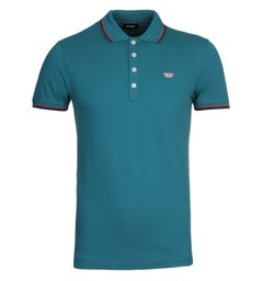 Diesel T-Randy Twin Tipped Blue Polo Shirt