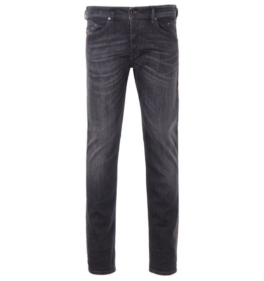 Diesel Belther-R Tapered Fit Jeans - Black Grey