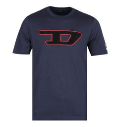 Diesel Large Logo Navy T-Shirt