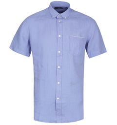 Diesel R-Emiko New Camicia Light Blue Short Sleeve Shirt