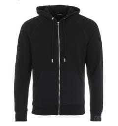 Diesel S-Ergey Waffle Knit Hooded Sweatshirt - Black