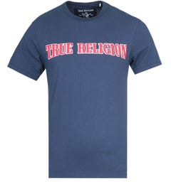 True Religion TR Felt Applique Ace Blue T-Shirt
