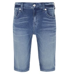 True Religion Bassline Rocco Blue Wash Denim Shorts