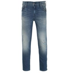 True Religion Rocco Skinny Fit Blue Rinse Denim Jeans
