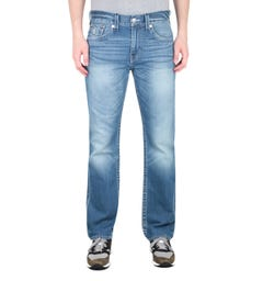 True Religion Ricky Regular Fit Wave Runner Blue Jeans