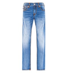 True Religion Ricky Relaxed Straight Fit Flap Super T Southside Blue Jeans