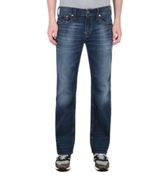 True Religion Billy Boot Cut Closure Blue Denim Jeans
