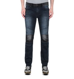 True Religion Rocco Moto Dark Blue Slim Fit Jeans