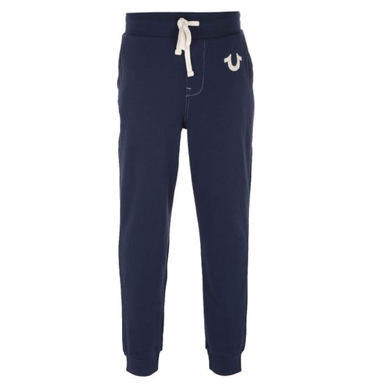True Religion Classic Logo Navy Sweatpants