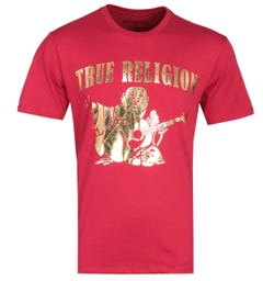 True Religion Buddha Print Red T-Shirt