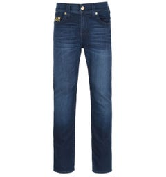 True Religion Rocco Skinny Fit Embroidery Detail Blue Denim Jeans