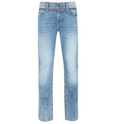 True Religion Geno Slim Fit Taped Detail Blue Denim Jeans