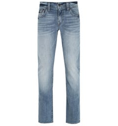 True Religion Ricky Straight Fit Flap Light Blue Denim Jeans