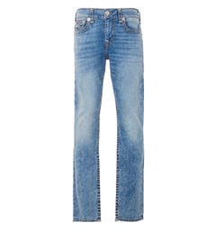 True Religion Geno Flap Super T Relaxed Slim Fit Jeans - Muddled High