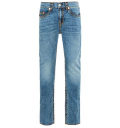 True Religion Rocco Super T Relaxed Skinny Jeans - Chopper Blue