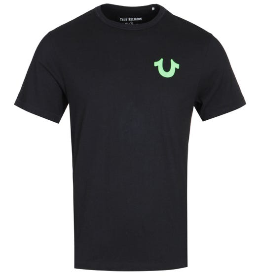 True Religion Neon Logo Black T-Shirt