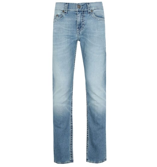 True Religion Geno Slim Fit Super T Blue Denim Jeans