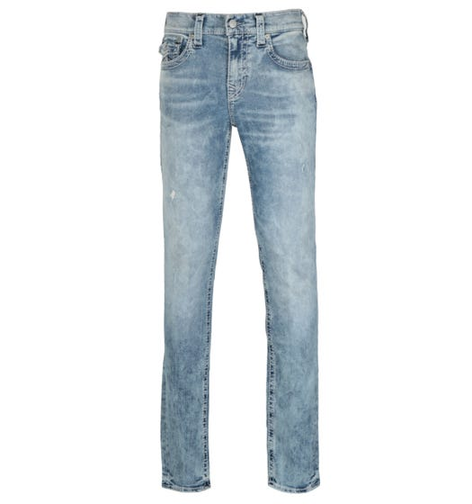 True Religion Rocco Relaxed Skinny Fit Flap Launch Blue Denim Jeans
