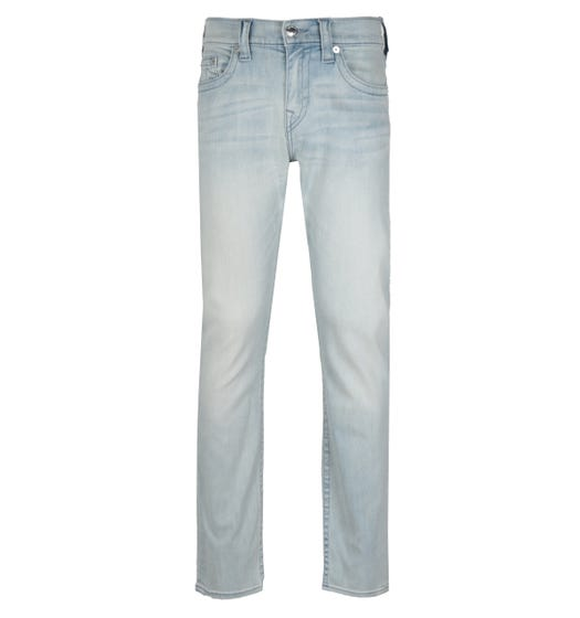 True Religion Ricky Relaxed Straight Fit No Flap Silicone Blue Denim Jeans