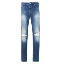 True Religion New Skinny Jeans - Medium Blue Worn