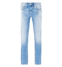 True Religion Rocco Big T Skinny Jeans - Light Blue