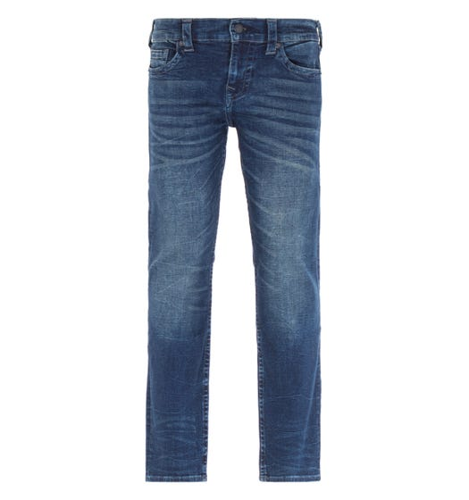 True Religion Ricky Relaxed Straight Fit Jeans - Dark Blue