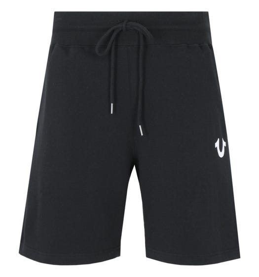 True Religion Logo Sweat Shorts - Black