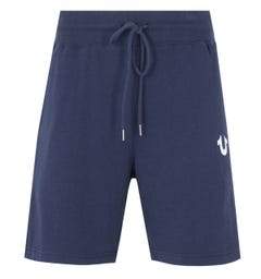 True Religion Logo Sweat Shorts - Navy