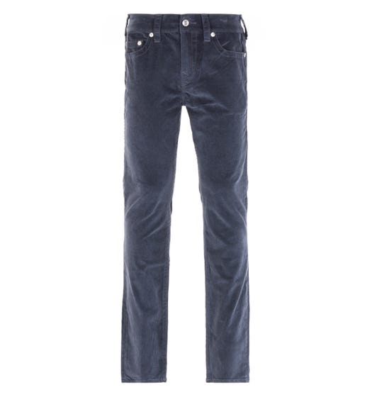 True Religion Rocco Relaxed Skinny Grey Corduroy Trousers