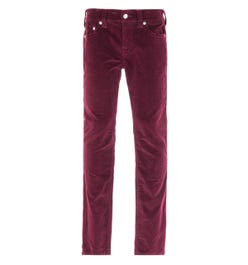 True Religion Rocco Relaxed Skinny Burgundy Corduroy Trousers
