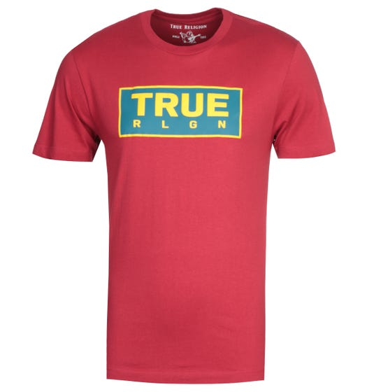 True Religion Heavyweight Red T-Shirt
