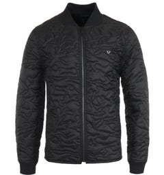 True Religion Camo Quilted Liner Jacket - Black