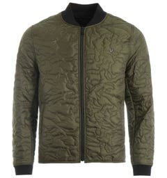 True Religion Camo Quilted Liner Jacket - Olive